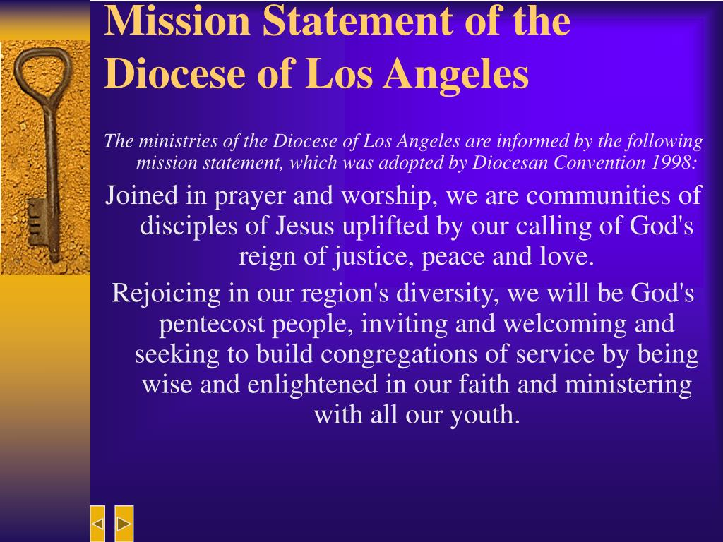 Mission Statement of the Diocese of Los Angeles