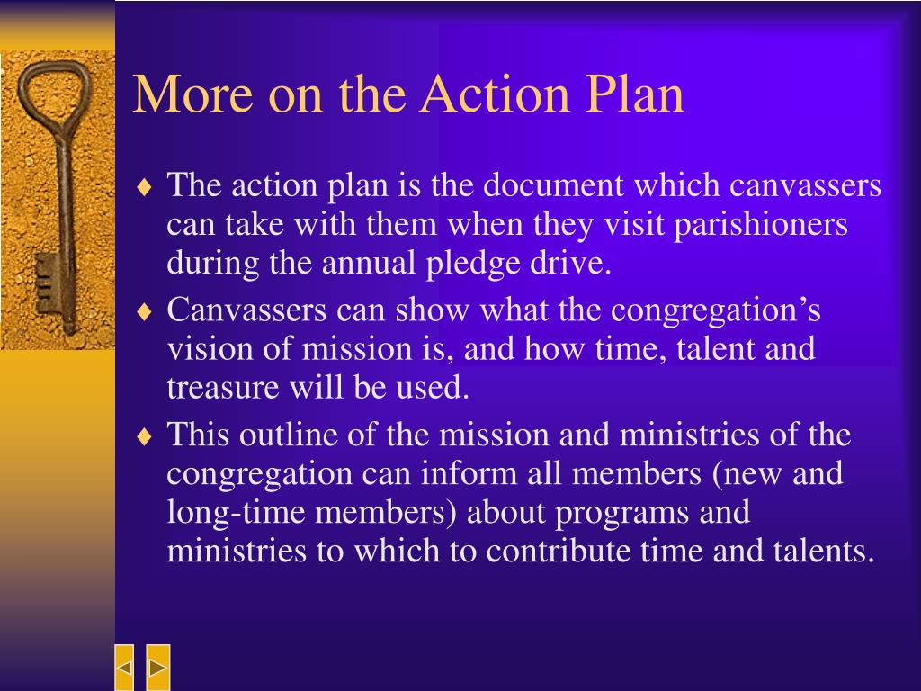 More on the Action Plan