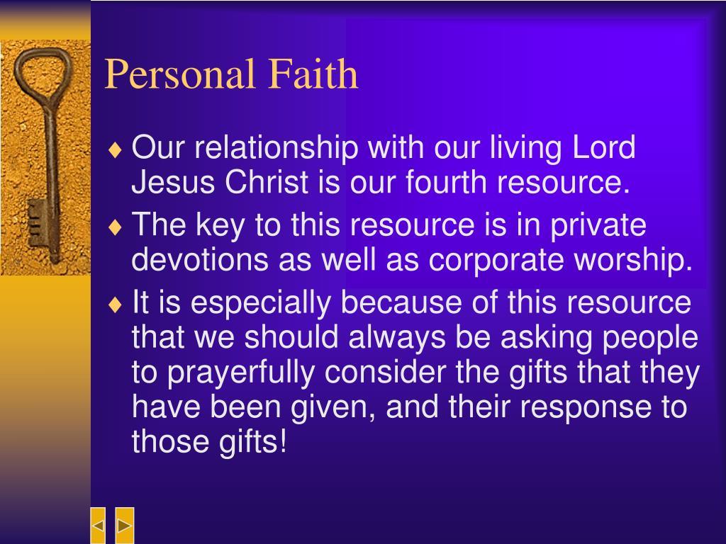 Personal Faith