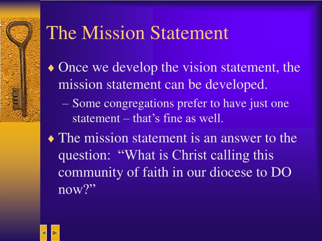 The Mission Statement