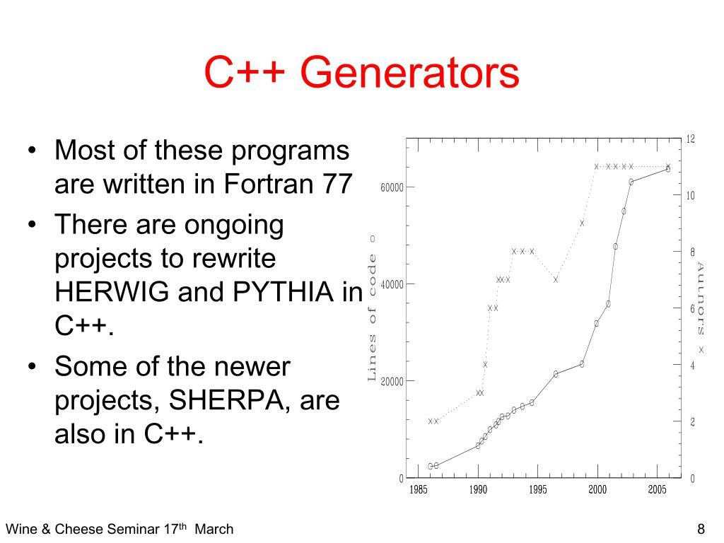 C++ Generators