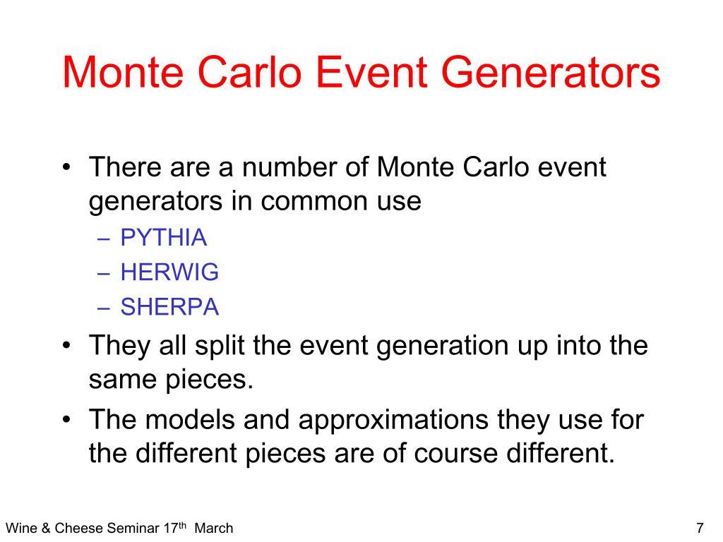 Monte Carlo Event Generators