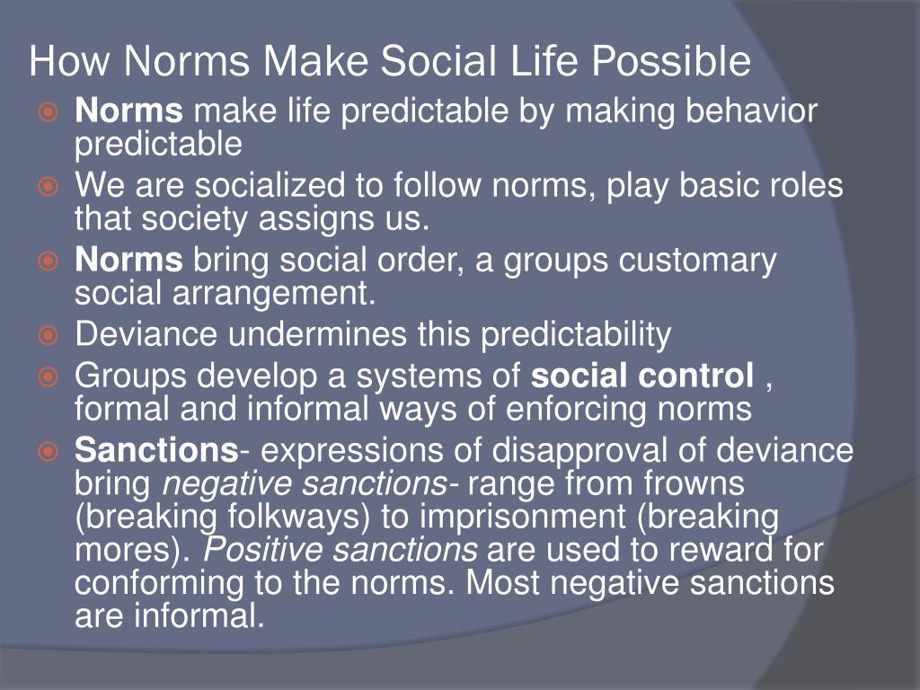 How Norms Make Social Life Possible
