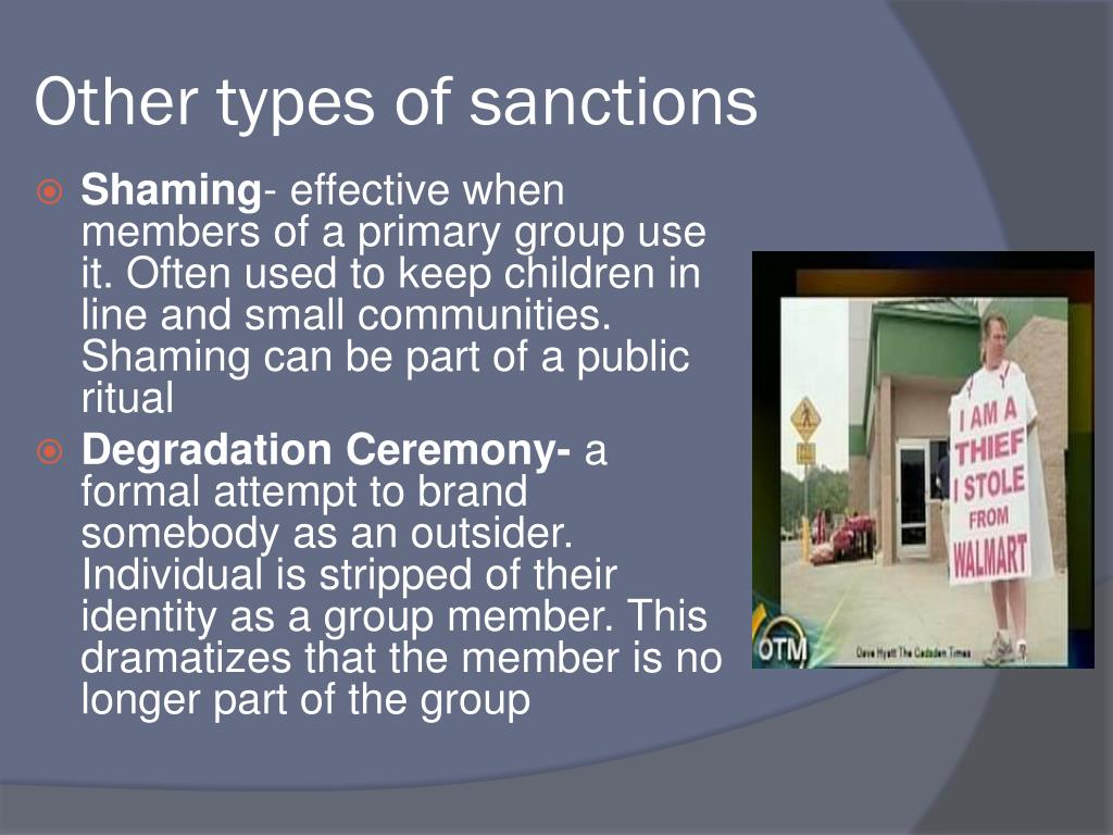 Other types of sanctions