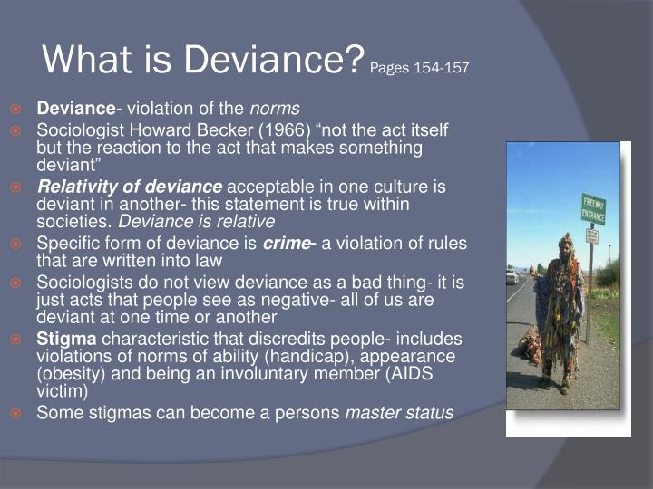 What is deviance pages 154 157