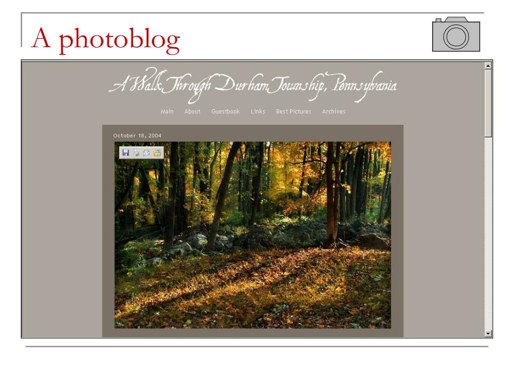 A photoblog