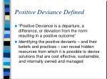 positive deviance defined
