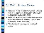 sc haiti central plateau