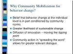why community mobilization for behavior change
