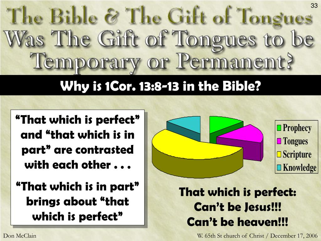 Why is 1Cor. 13:8-13 in the Bible?