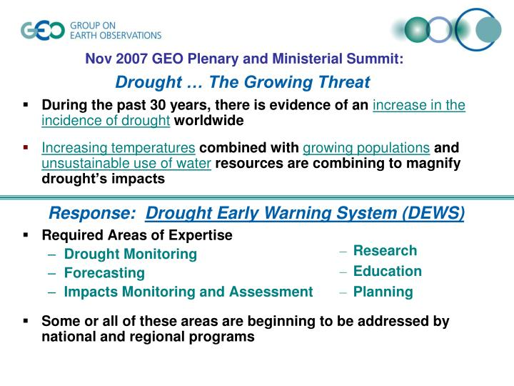 Drought the growing threat