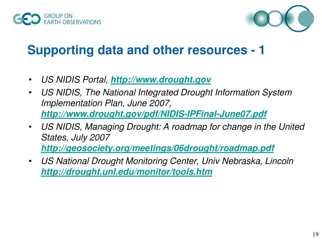 Supporting data and other resources - 1