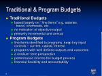 traditional program budgets