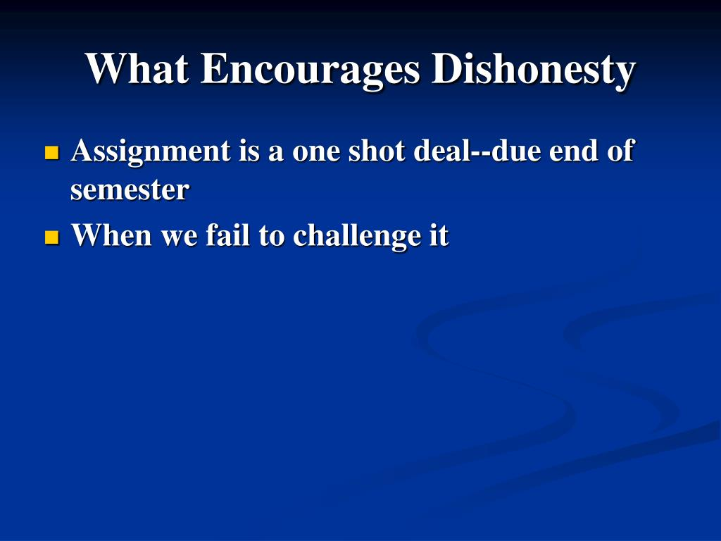 What Encourages Dishonesty