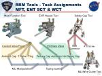 rrm tools task assignments mft ent sct wct
