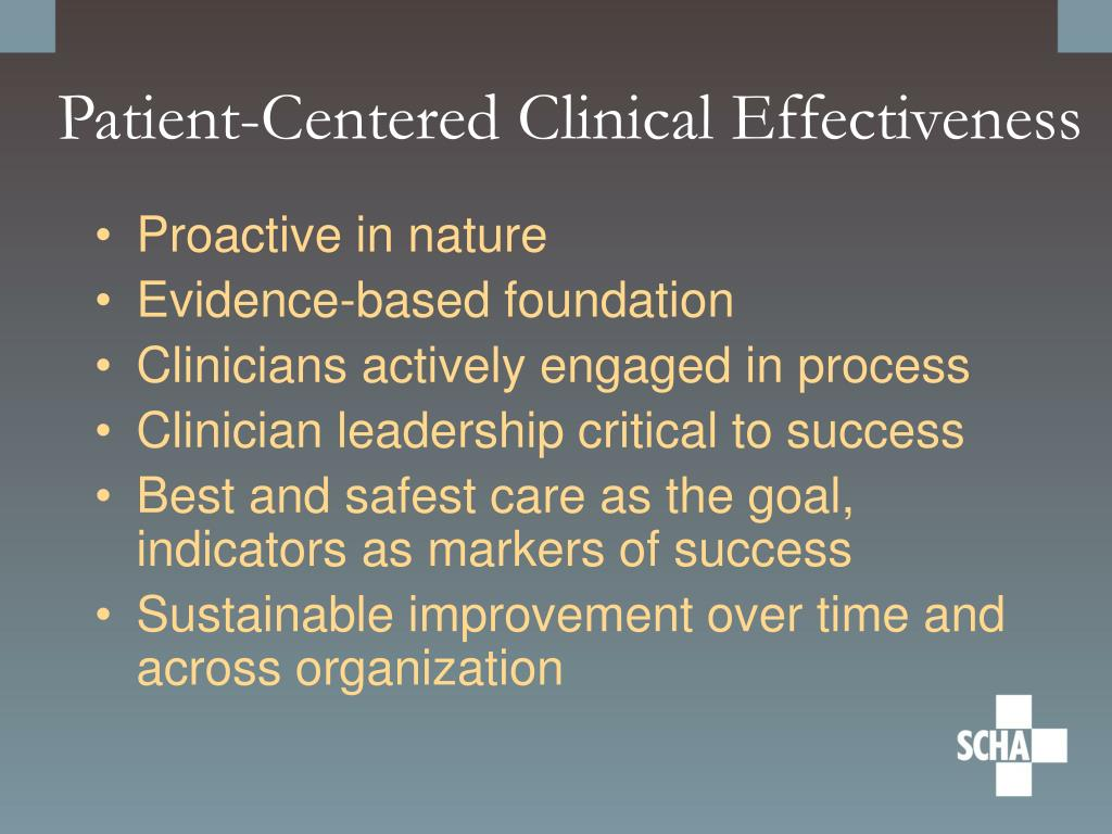 Patient-Centered Clinical Effectiveness