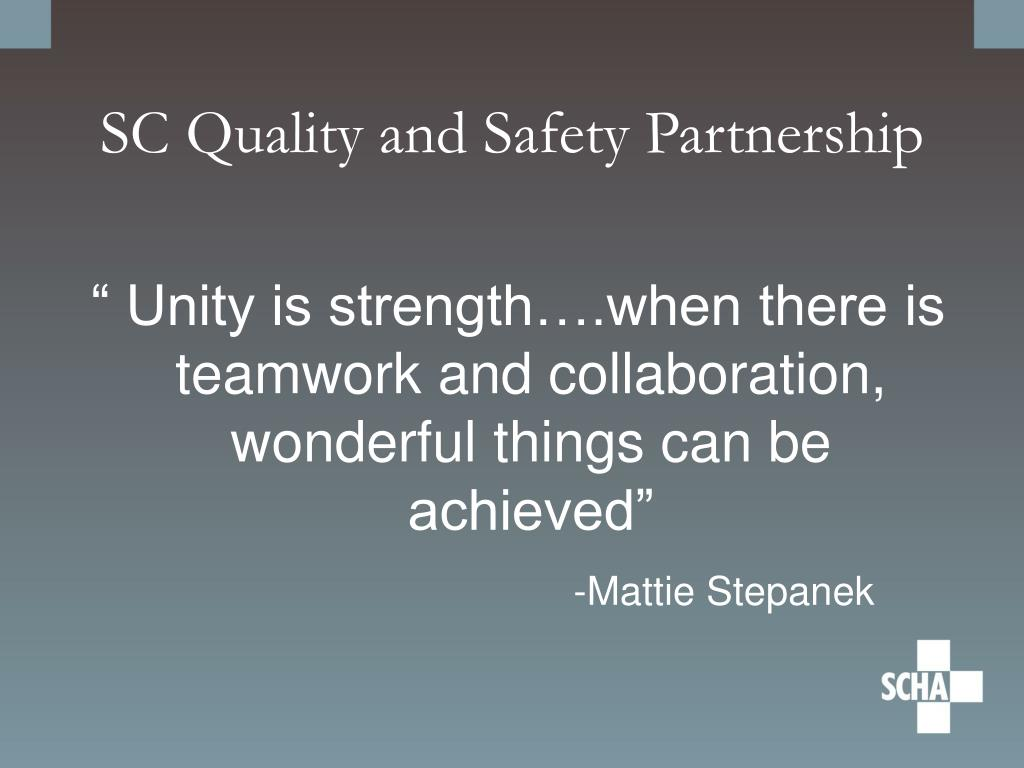 SC Quality and Safety Partnership
