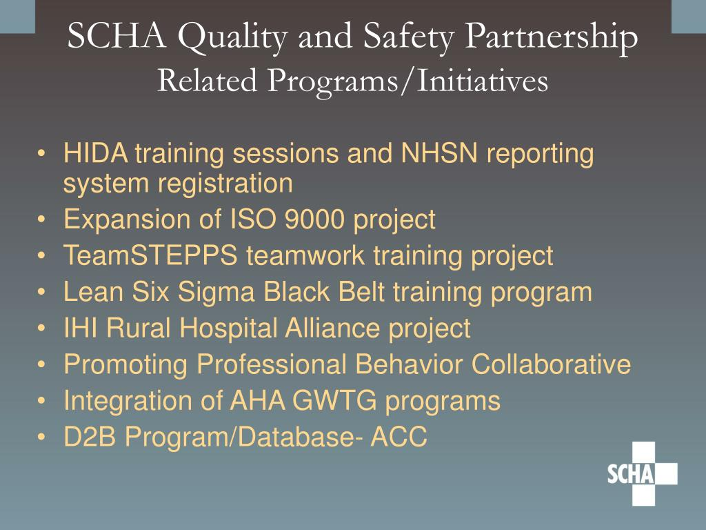 SCHA Quality and Safety Partnership