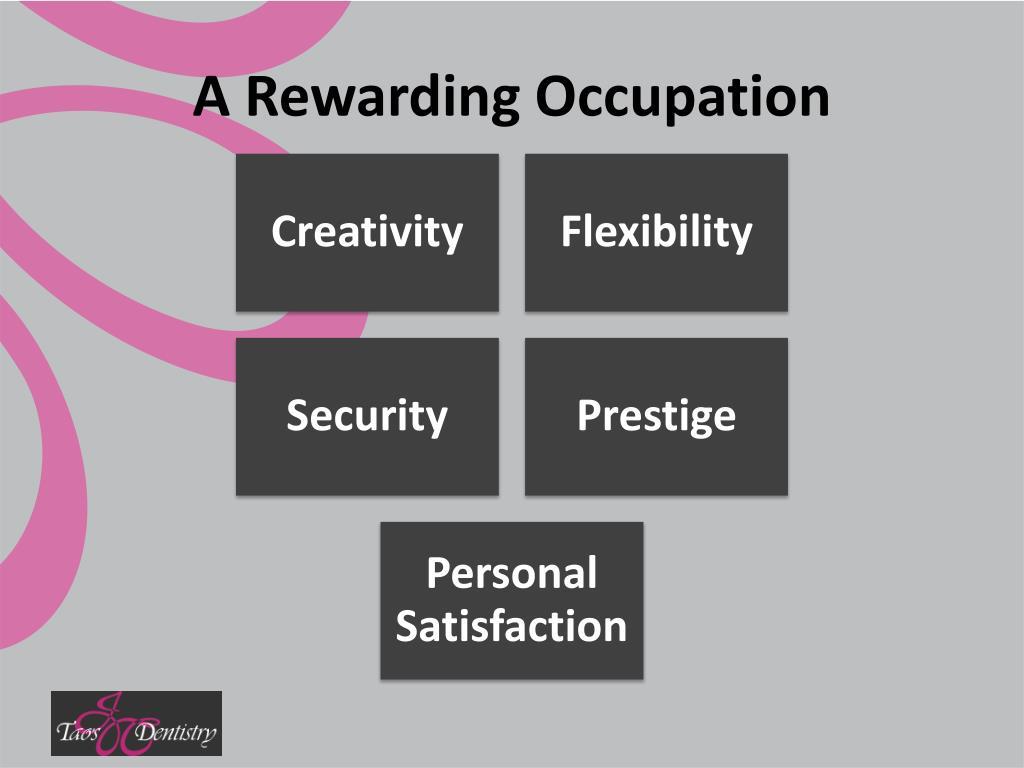 A Rewarding Occupation