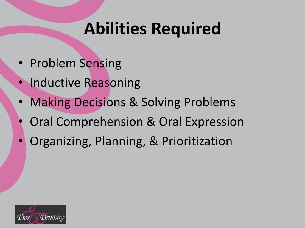 Abilities Required