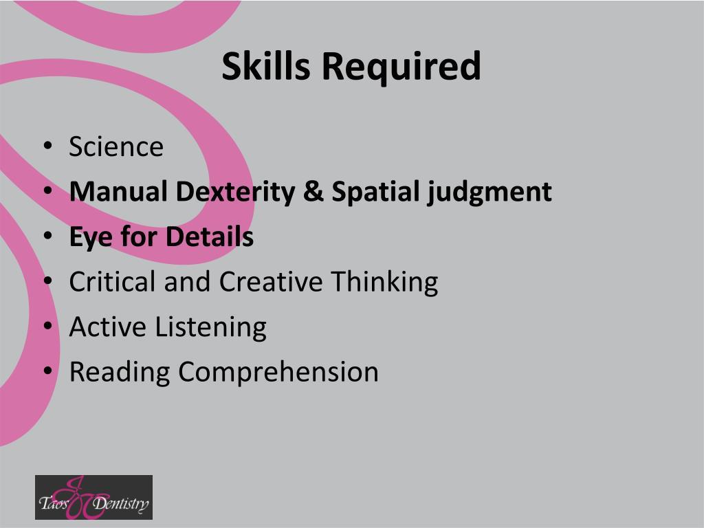 Skills Required