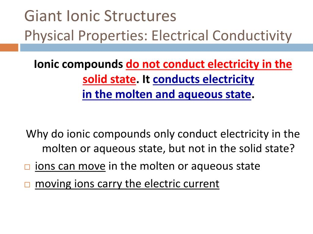 Giant Ionic Structures