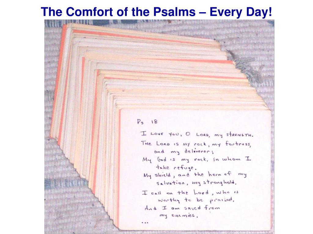 The Comfort of the Psalms – Every Day!