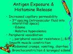 antigen exposure histamine release