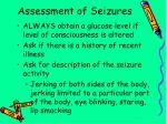 assessment of seizures