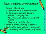 ems seizure intervention