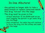 in line albuterol