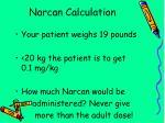 narcan calculation