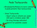 peds tachycardia