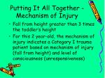 putting it all together mechanism of injury