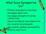 what does epinephrine do