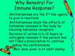 why benadryl for immune response