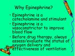 why epinephrine