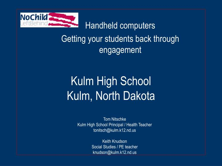 Kulm high school kulm north dakota