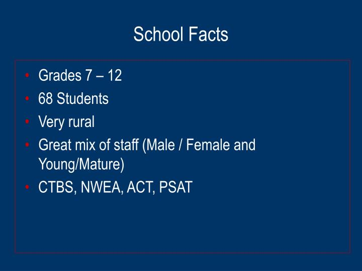 School facts