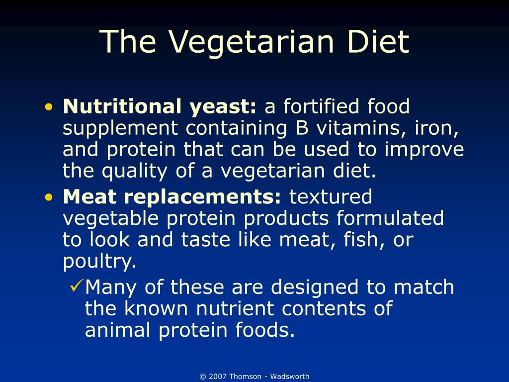 The Vegetarian Diet