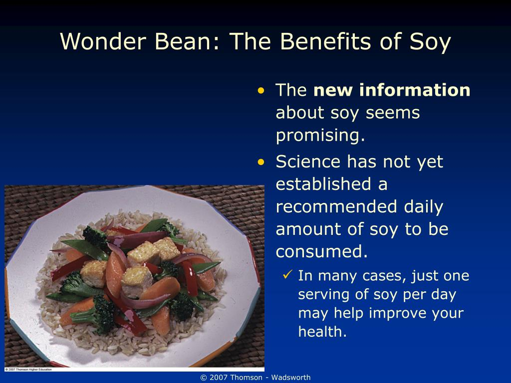 Wonder Bean: The Benefits of Soy