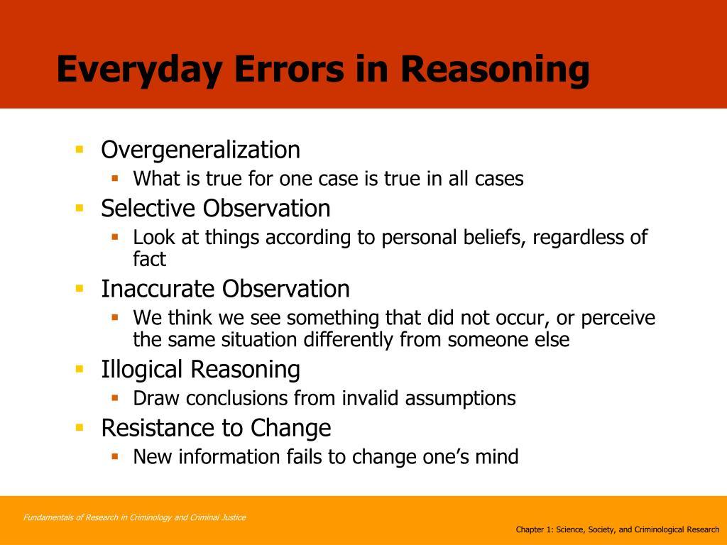 Everyday Errors in Reasoning