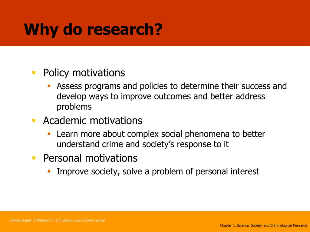 Why do research?