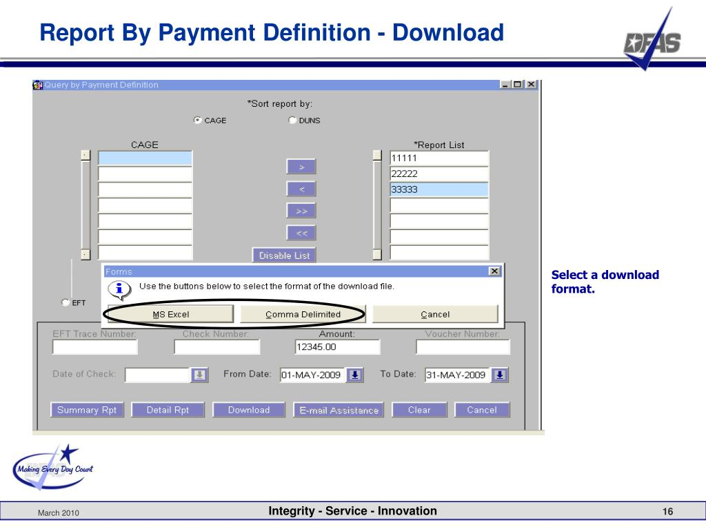 Report By Payment Definition - Download