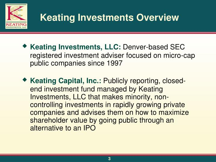 Keating investments overview