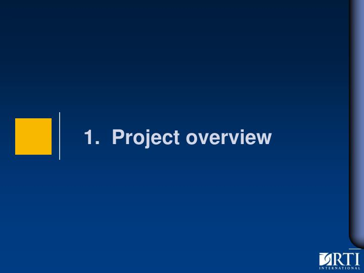 1 project overview