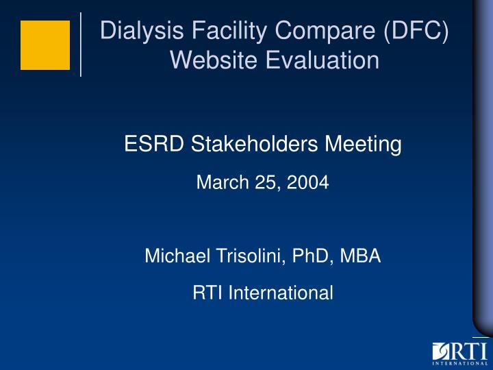 Dialysis facility compare dfc website evaluation