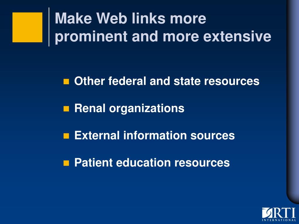 Make Web links more prominent and more extensive