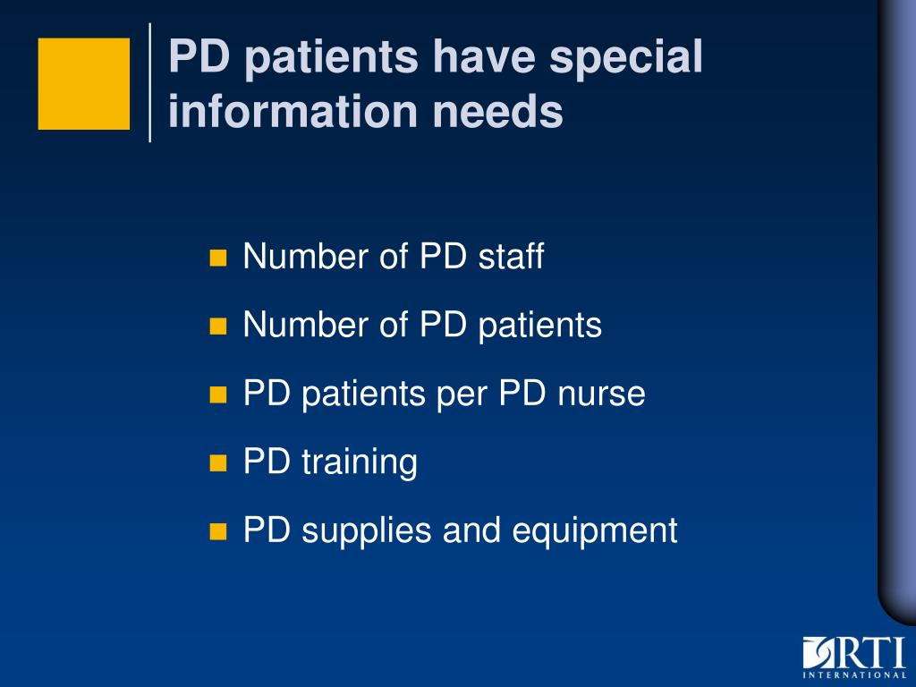 PD patients have special information needs