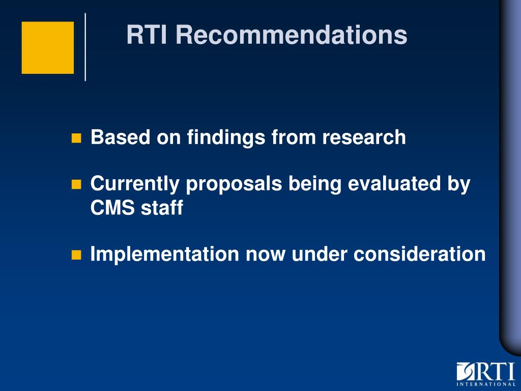 RTI Recommendations